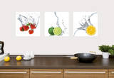 Splashing Fruits Vinilo decorativo