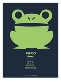 Green Frog Multilingual Poster Posters by  NaxArt