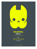 Yellow Squirrel Multilingual Poster Posters by  NaxArt