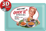 Kellogg's Quick K Menu Tin Sign