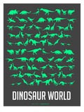 Dinosaur Poster Green Art by  NaxArt