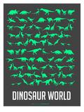 Dinosaur Poster Green Arte di  NaxArt
