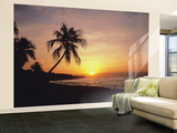 Tropical Sunset Huge Wall Mural Poster Print Wall Mural