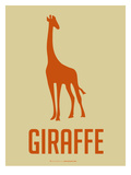 Giraffe Orange Prints by  NaxArt
