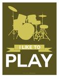 I Like to Play 5 Premium giclée print van  NaxArt
