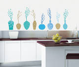 Fancy Vases Wall Decal by Alice Wilson