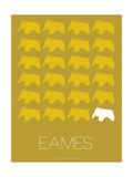 Eames Yellow Elephant Poster Photo by  NaxArt
