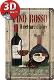 Vino Rosso Plaque en m&#233;tal