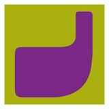 NaxArt - Letter J Purple Obrazy