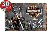 Harley-Davidson Favourite Ride Blikken bord