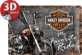 Harley-Davidson Favourite Ride Cartel de metal