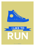 I Like to Run 2 Prints by  NaxArt