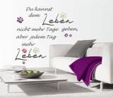 Tag Voller Leben (sticker murale) Decalcomania da muro di Andrea Haase