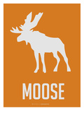 Moose White Print by  NaxArt