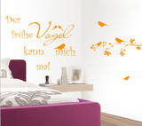 Early Bird Wall Decal by Andrea Haase