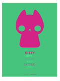 Pink Kitty Multilingual Poster Poster by  NaxArt