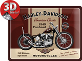 Harley-Davidson Panhead Plaque en métal