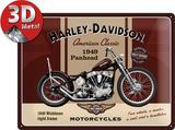 Harley-Davidson Panhead Blechschild