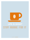 Coffee Poster Orange Prints by  NaxArt