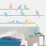 Patterned Birds Wall Decal by Alice Wilson