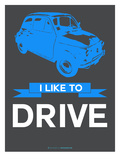 I Like to Drive Beetle 5 Print by  NaxArt