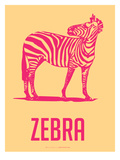Zeebra Red and yellow Posters by  NaxArt