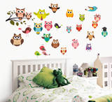 Funny Owls Wall Decal