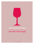 Wine Poster Red Prints by  NaxArt