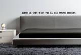 Sticker Citation : Quand le chat n'est pas là les souris dansent Wall Decal