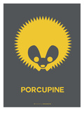 Yellow Porcupine Multilingual Poster Posters by  NaxArt