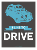 I Like to Drive Beetle 3 Poster by  NaxArt