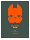 Orange Squirrel Multilingual Poster Posters by  NaxArt