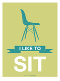 I Like to Sit 2 Prints by  NaxArt