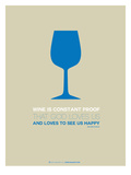Wine Poster Blue Poster by  NaxArt