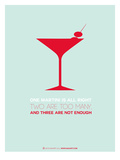 Martini Poster Red Prints by  NaxArt