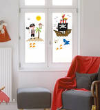 Pirates Of The Window Wall Decal by Alice Wilson