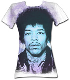 Juniors: Jimi Hendrix - Face T-shirts