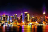 Manhattan skyline - reflections Posters