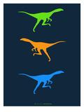 Dinosaur Family 16 Print by  NaxArt
