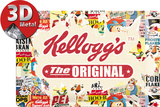 Kellogg's The Original Collage Plaque en métal