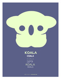 Yellow Koala  Multilingual Poster Prints by  NaxArt