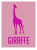 Giraffe Pink Posters by  NaxArt