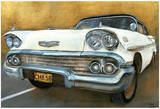 Chevrolet 58 Blanche Posters by  Cobe