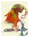 Ferrari Girl Prints by  NaxArt