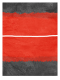 Grey and Red Abstract 2 Print by  NaxArt