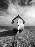 Infrared Image of a Fishing Boat, Dungeness, Kent, UK Photographic Print by Nadia Isakova