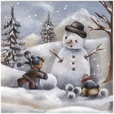 Bonhomme de Niege Prints by Stephanie Holbert