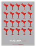 Red Margaritas Grey Poster Posters by  NaxArt