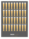 Beer Glasses Poster Print by  NaxArt