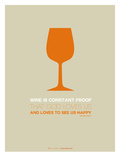 Wine Poster Orange Prints by  NaxArt